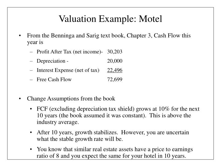 Valuation Example: Motel