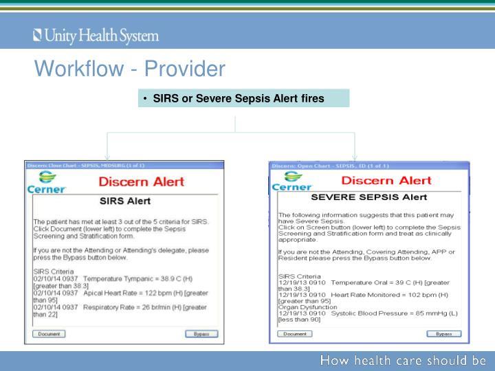 Workflow - Provider
