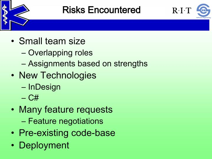 Risks Encountered