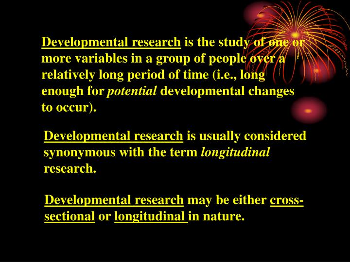 Developmental research