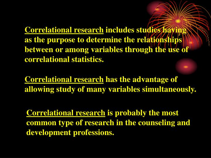 Correlational research