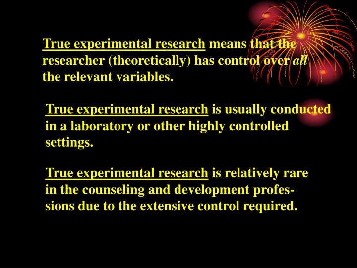 True experimental research