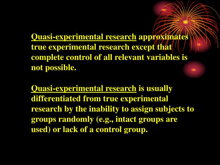 Quasi-experimental research