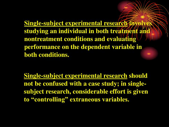 Single-subject experimental research
