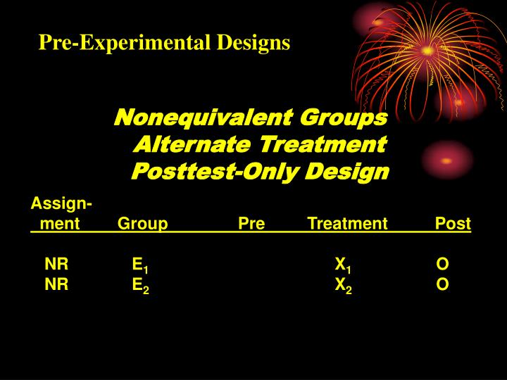 Pre-Experimental Designs