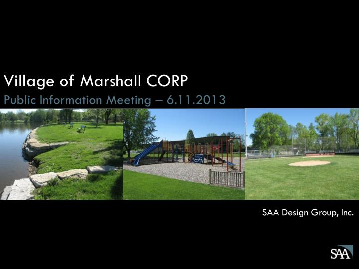 Village of Marshall CORP