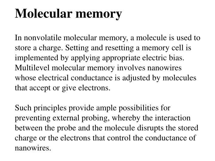 Molecular memory