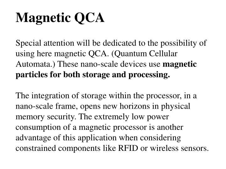 Magnetic QCA