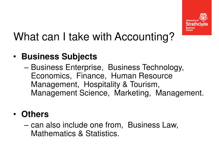 What can I take with Accounting?