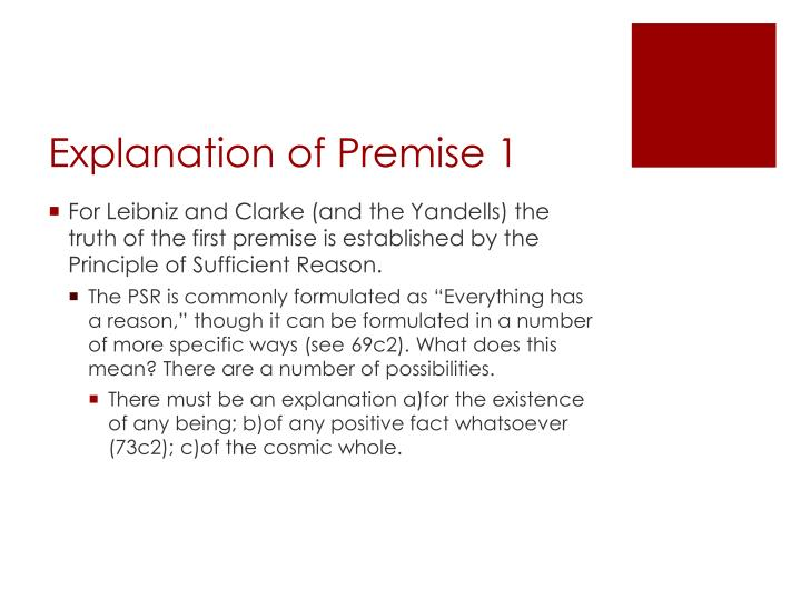 Explanation of Premise 1