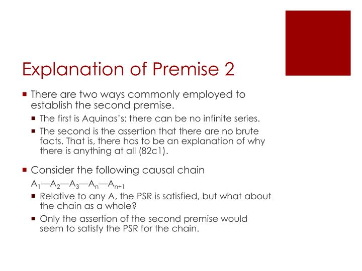 Explanation of Premise 2