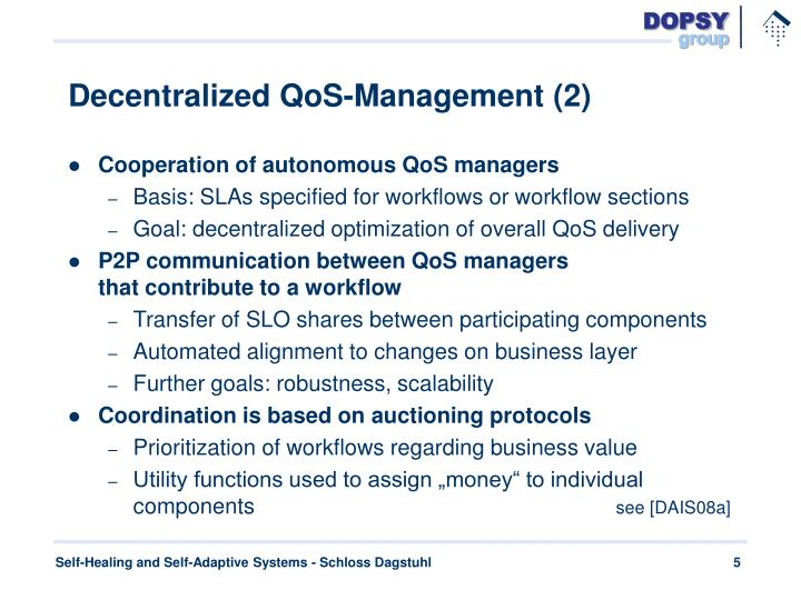 Decentralized QoS-Management (2)