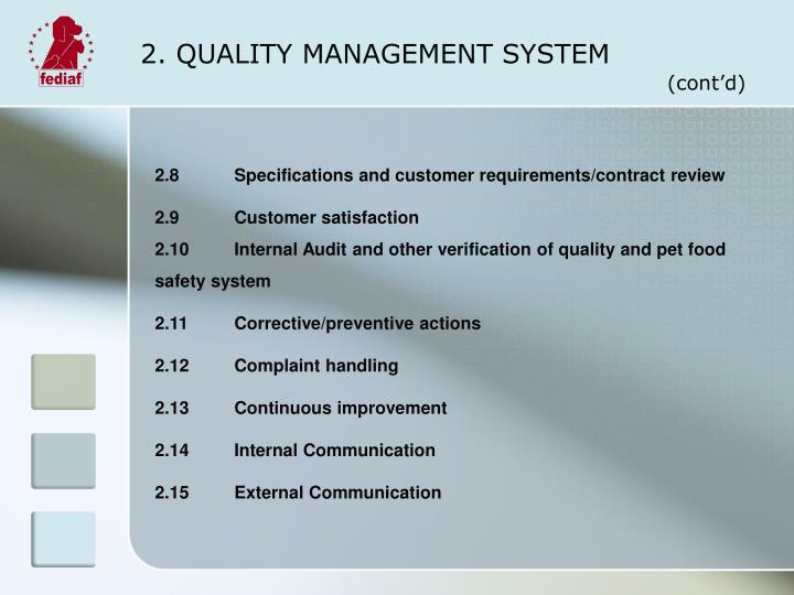 2 quality management system1
