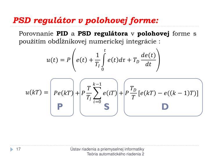 PSD regulátor