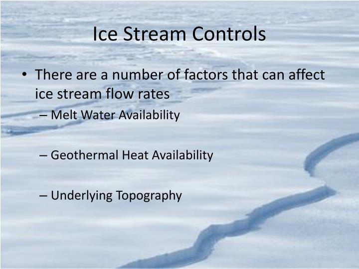 Ice Stream Controls