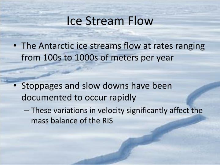 Ice Stream Flow