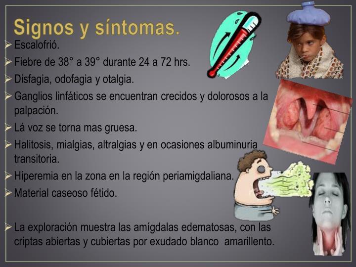 Signos y síntomas.