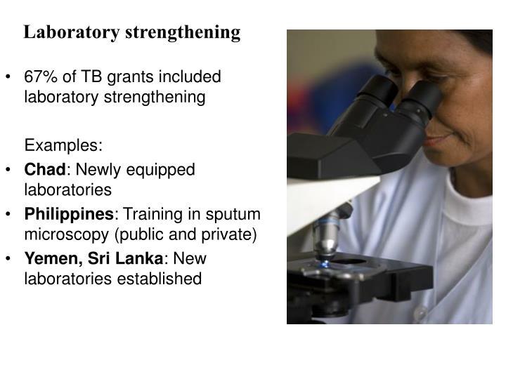 Laboratory strengthening