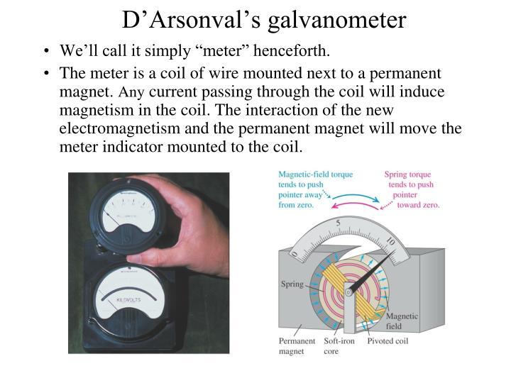 D'Arsonval's galvanometer