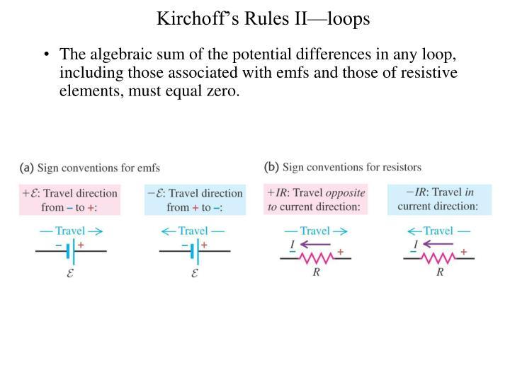 Kirchoff's Rules II