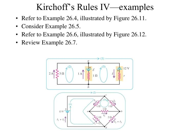 Kirchoff's Rules IV