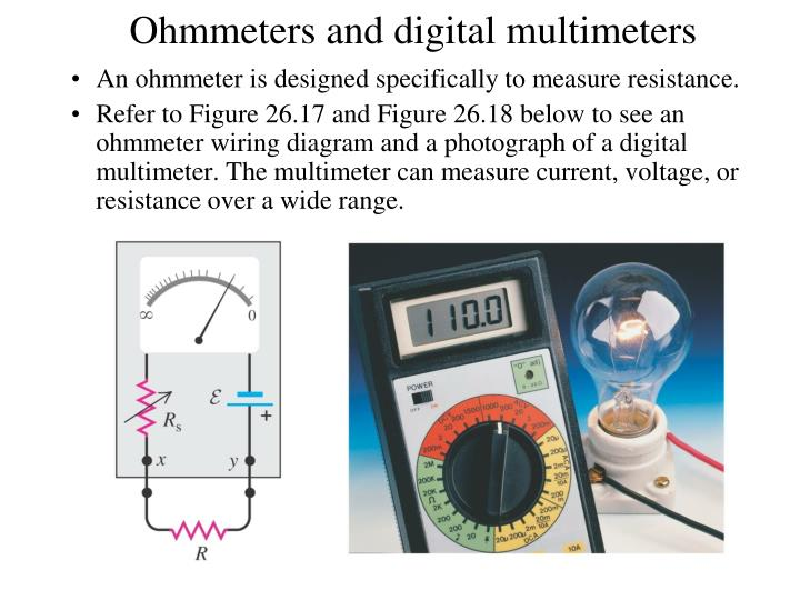Ohmmeters and digital multimeters