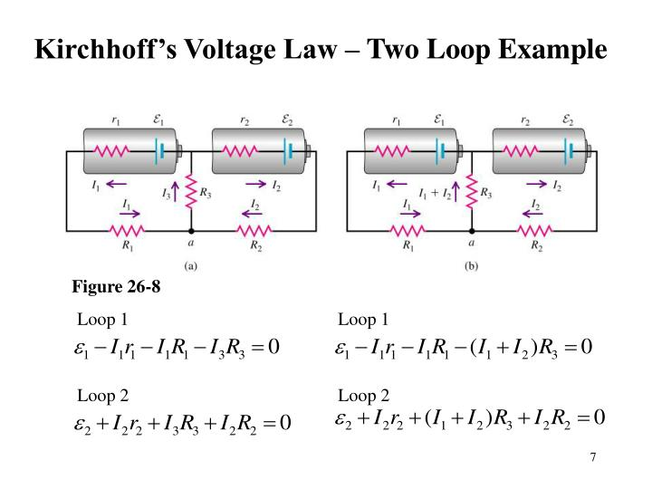 Kirchhoff's Voltage Law – Two Loop Example