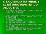 3 la ciencia natural y el m todo hipot tico deductivo