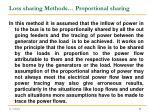 loss sharing methods proportional sharing