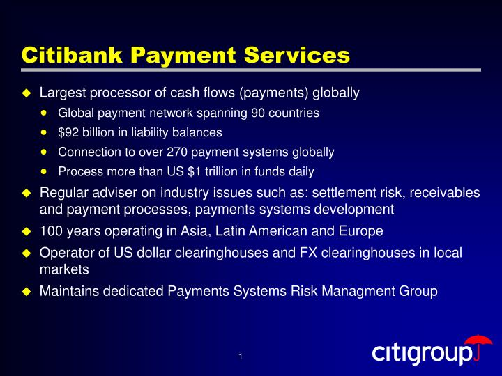 Citibank Payment Services