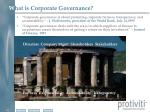 w hat is corporate governance