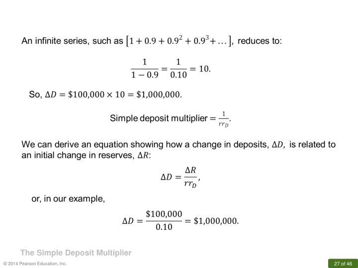 The Simple Deposit Multiplier