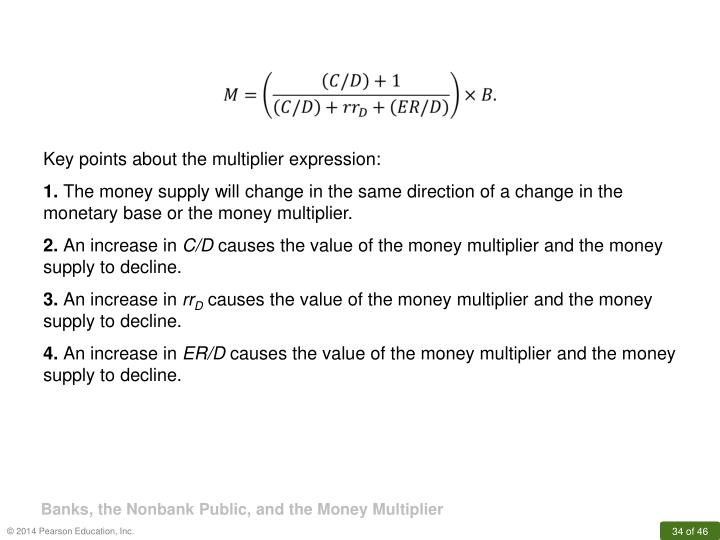 Key points about the multiplier expression: