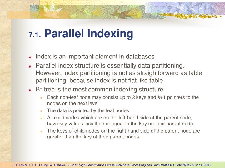 7 1 parallel indexing