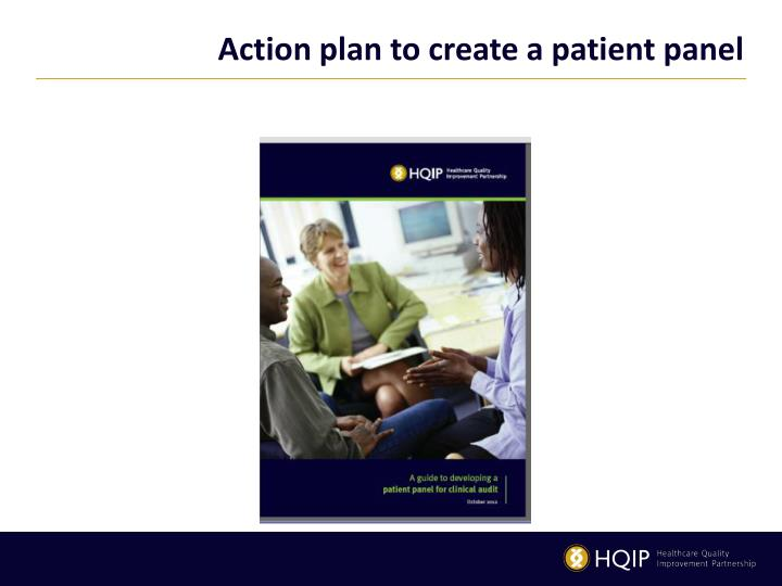 Action plan to create a patient panel