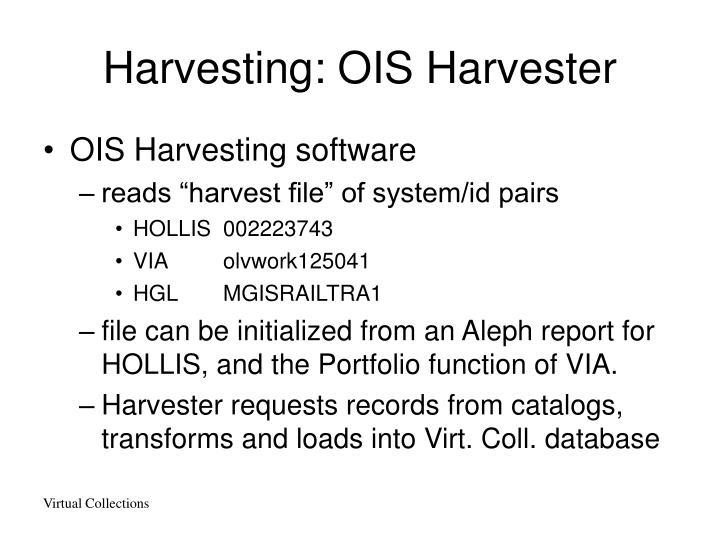 Harvesting: OIS Harvester