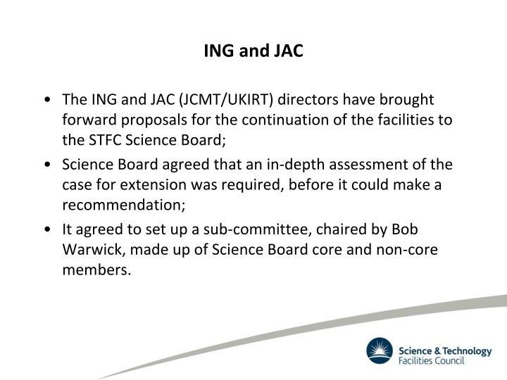 ING and JAC