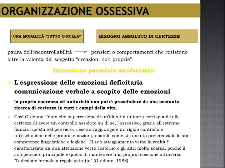 Organizzazione ossessiva