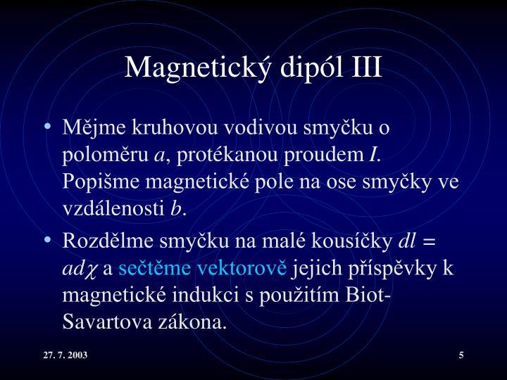 Magnetický dipól III