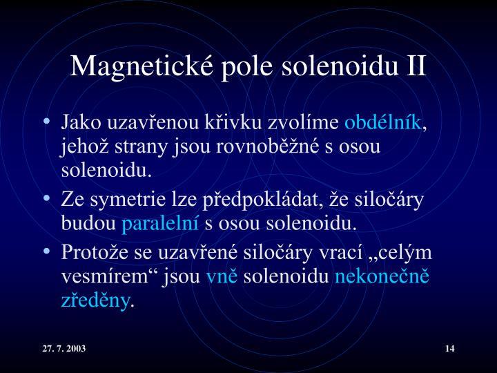 Magnetické pole solenoidu II