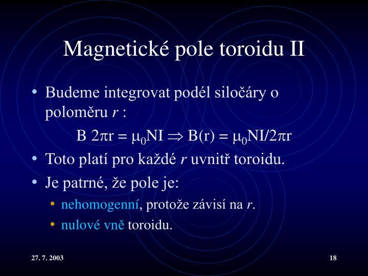 Magnetické pole toroidu II