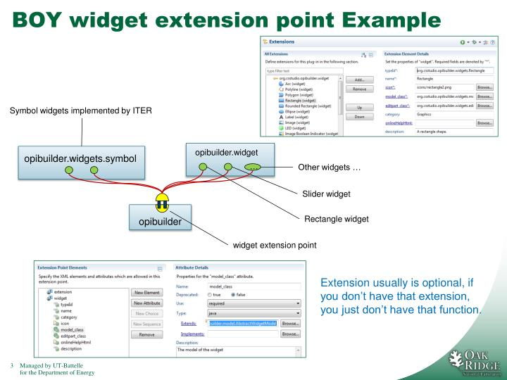 BOY widget extension point Example