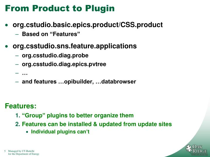 From Product to Plugin