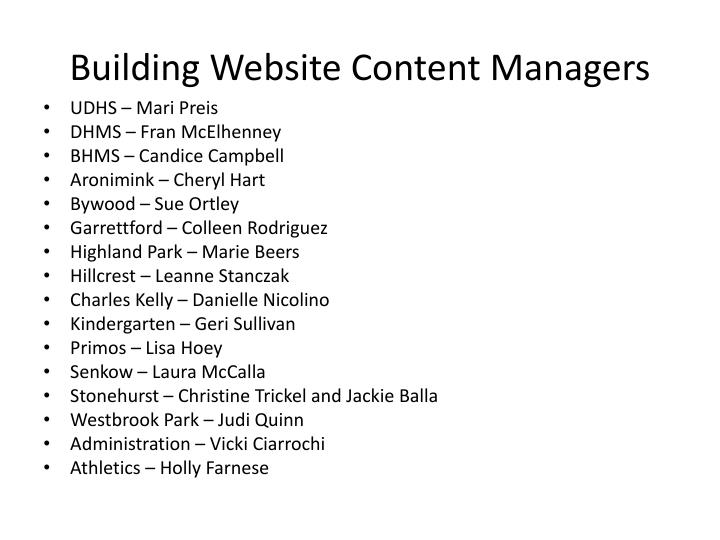 Building Website Content Managers