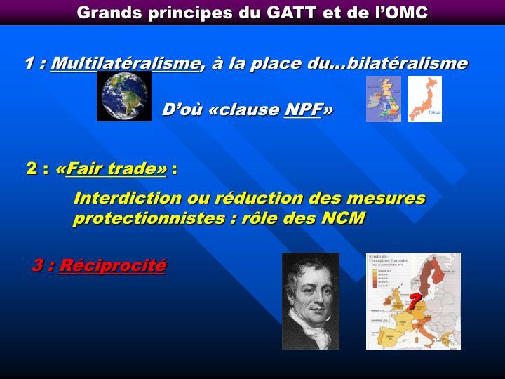 Grands principes du GATT et de l'OMC