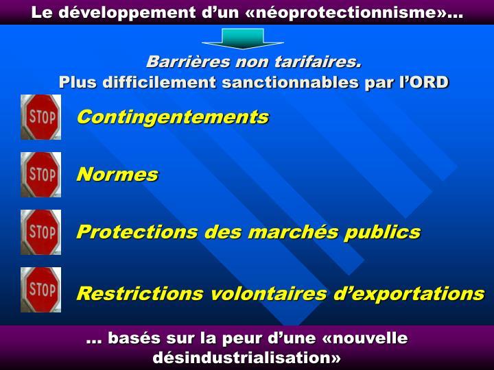 Le développement d'un «néoprotectionnisme»…
