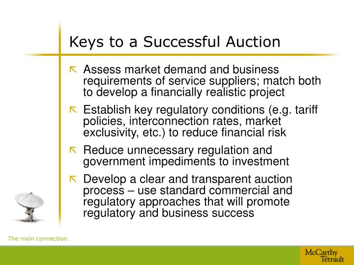 Keys to a Successful Auction