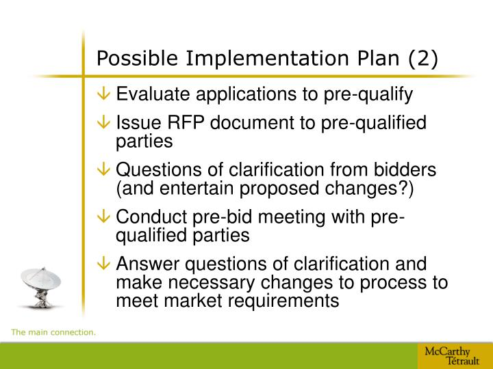 Possible Implementation Plan (2)