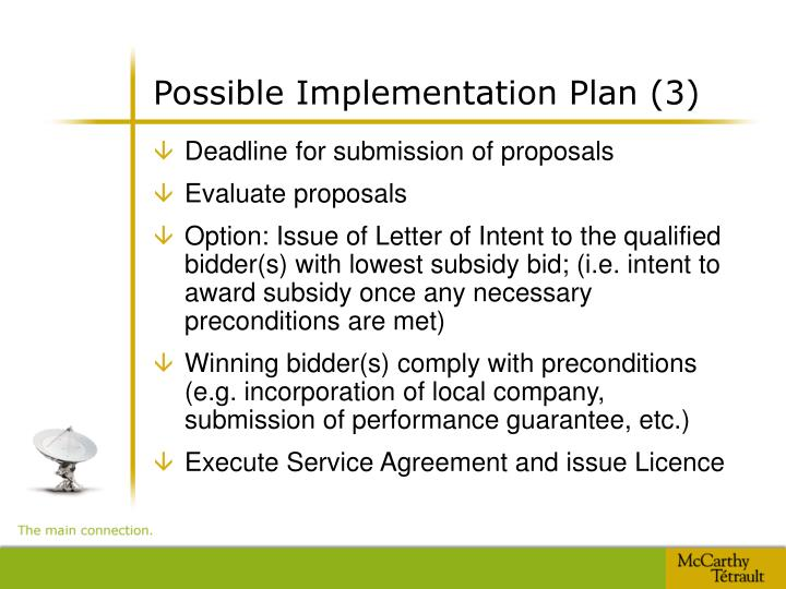 Possible Implementation Plan (3)