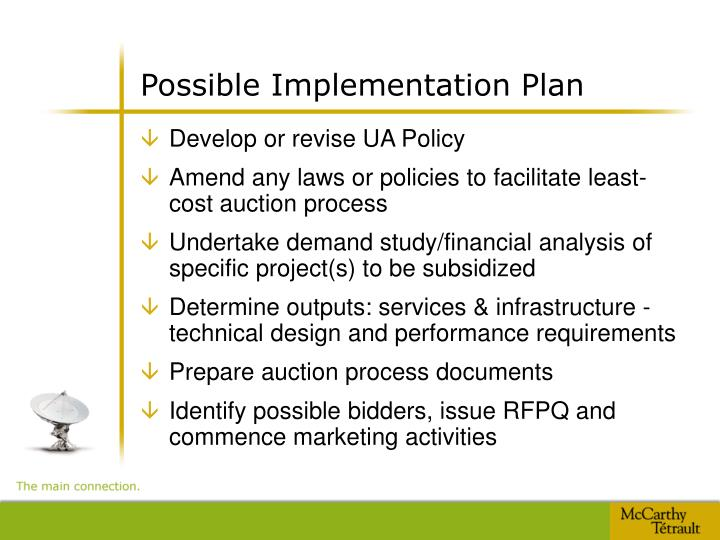 Possible Implementation Plan